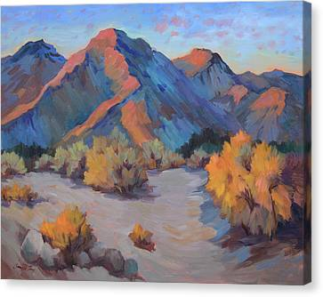 Canvas Print featuring the painting Desert Light by Diane McClary