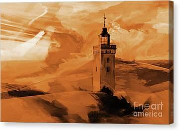 Desert Light Houese Canvas Print by Gull G