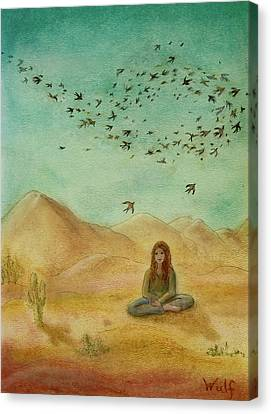 Desert Mantra Canvas Print