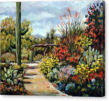 Desert Museum Garden Tucson Canvas Print by Alexandra Maria Ethlyn Cheshire