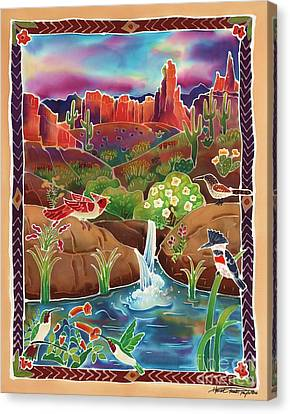 Desert Oasis Canvas Print by Harriet Peck Taylor