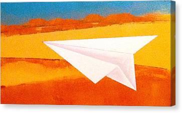 Desert Plane Canvas Print by Roxanne Green