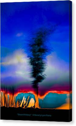 Canvas Print featuring the photograph Desert Pottery by Beverly Parks
