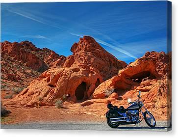 Desert Rider Canvas Print by Charles Warren