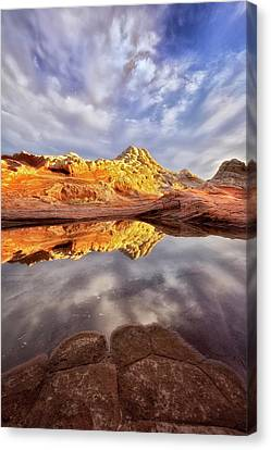 Desert Rock Drama Canvas Print