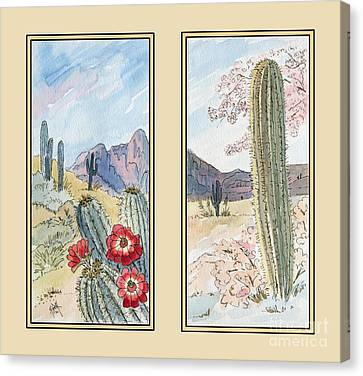Claret Canvas Print - Desert Sands by Marilyn Smith