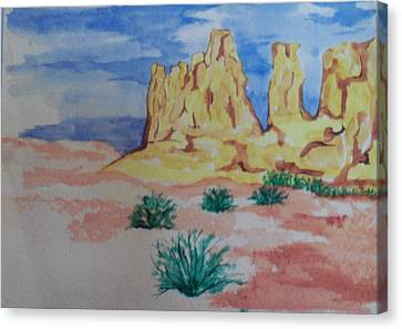Canvas Print featuring the painting Desert Sky by Erika Chamberlin