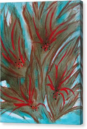 Canvas Print featuring the painting Desert Spirits by Sharyn Winters