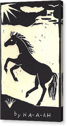 Desert Stallion Canvas Print