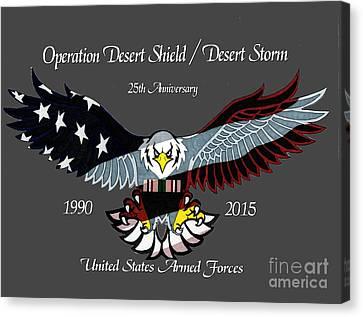 Desert Storm 25th Anniversary Canvas Print by Bill Richards
