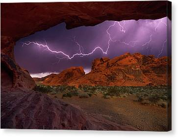 Desert Storm Canvas Print by Darren White