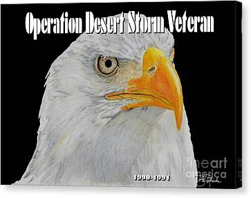 Desert Storm Eagle Canvas Print by Bill Richards