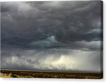 Canvas Print featuring the photograph Desert Storm by Farol Tomson