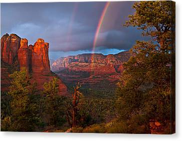 Sedona Mountains Canvas Print - Desert Storm by Guy Schmickle