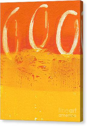 Orange Canvas Print - Desert Sun by Linda Woods
