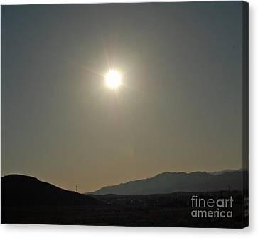 Canvas Print featuring the digital art Desert Sun by Walter Chamberlain