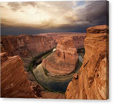 Desert Sunrise At Horseshoe Bend Canvas Print by Matt Tilghman