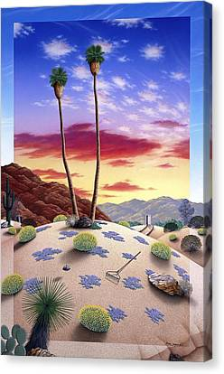 Desert Sunrise Canvas Print by Snake Jagger