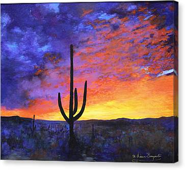 Desert Sunset 4 Canvas Print by M Diane Bonaparte