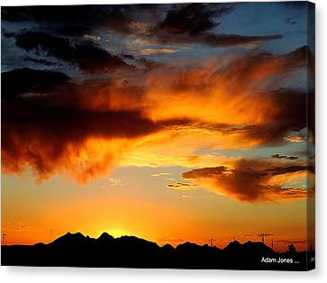 Desert Sunset Canvas Print by Adam Jones