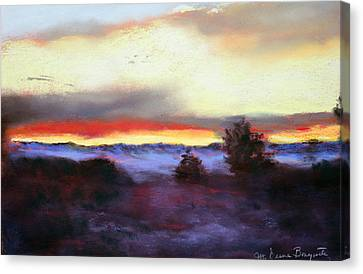 Desert Sunset I Canvas Print by M Diane Bonaparte