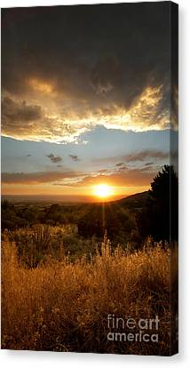 Desert Sunset Over Albuquerque Canvas Print