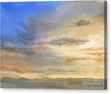 Desert Sunset Canvas Print by Sharon Freeman