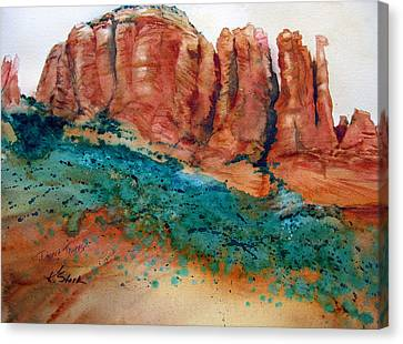 Desert Towers Canvas Print by Karen Stark
