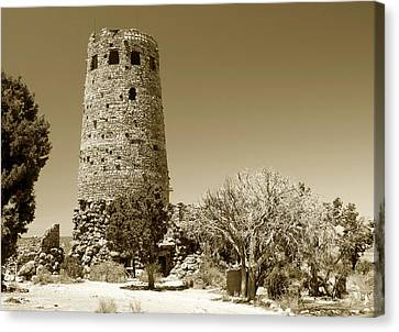 Desert View Tower Work Number 1 Canvas Print by David Lee Thompson