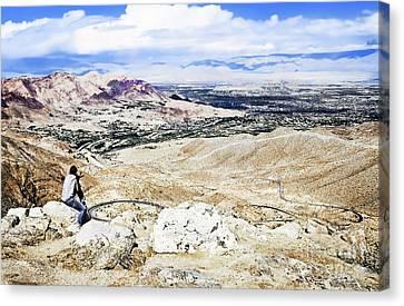 Desert Viewer  Canvas Print