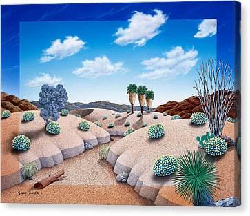 Desert Vista 2 Canvas Print by Snake Jagger