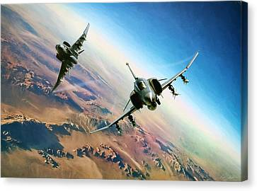 Storm Canvas Print - Desert Weasels by Peter Chilelli