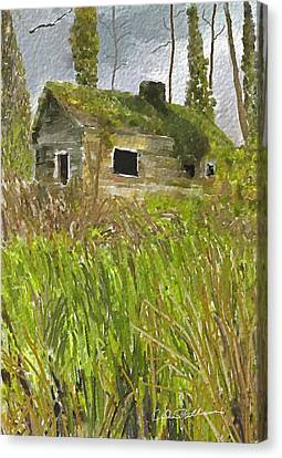 Canvas Print featuring the digital art Deserted by Dale Stillman