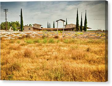 Deserted Horse Stables Canvas Print by Connie Cooper-Edwards