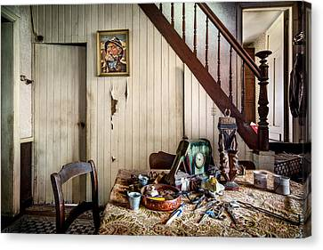 Deserted Room In Abandoned House -urben Exploration Canvas Print by Dirk Ercken
