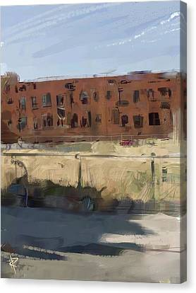 Deserted Canvas Print by Russell Pierce
