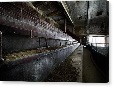 Canvas Print featuring the photograph Deserted Theatre Steps - Urban Exploration by Dirk Ercken