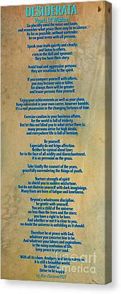 Desiderata Canvas Print by Celestial Images