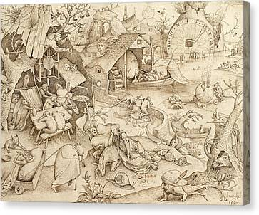 Bruegel Canvas Print - Desidia  by Pieter Bruegel the Elder