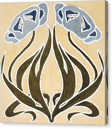 Design For A Minstrel Tile Canvas Print by William Morris