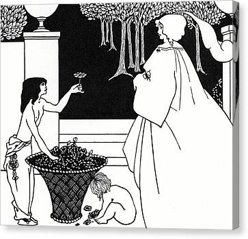 Design For The Yellow Book Canvas Print by Aubrey Beardsley