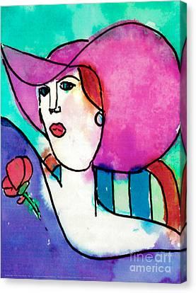 Design Lady Canvas Print by Jessie Abrams Age Eleven