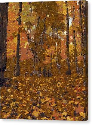 Design Of Autumn Canvas Print by Dan Sproul