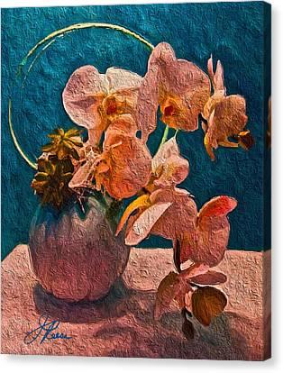 Designer Floral Arrangement Canvas Print