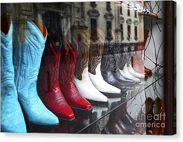 Designer Leather Boots For Sale Canvas Print
