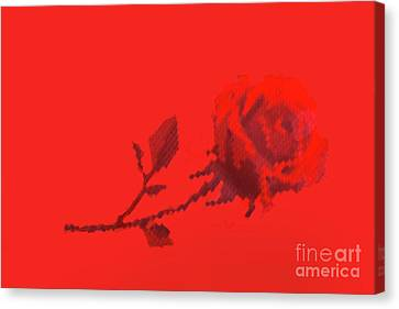 Canvas Print featuring the photograph Designer Red Rose by Linda Phelps