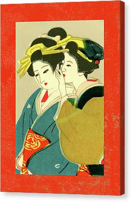 Labelled Canvas Print - Designer Series Japanese Matchbox Label 127 by Carol Leigh