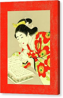 Labelled Canvas Print - Designer Series Japanese Matchbox Label 131 by Carol Leigh