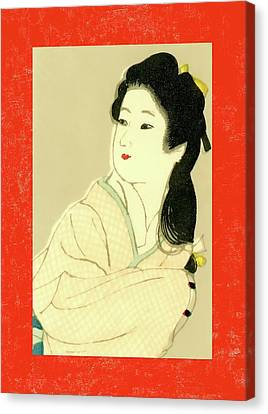 Labelled Canvas Print - Designer Series Japanese Matchbox Label 132 by Carol Leigh