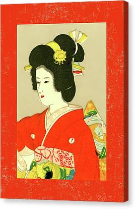 Labelled Canvas Print - Designer Series Japanese Matchbox Label 133 by Carol Leigh